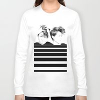 tegan and sara Long Sleeve T-shirts featuring Tegan & Sara by MeMRB