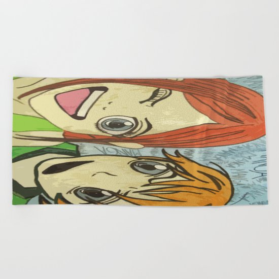 Manga Beach Towel