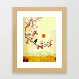 Cherry Branch Framed Art Print