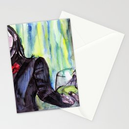 MaNsinthe, portrait of M.M. made by Ines Zgonc Stationery Cards