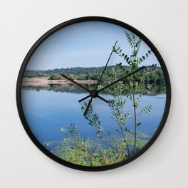 The river and the bush Wall Clock