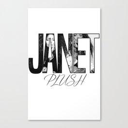 Janet Jackson - Plush Canvas Print