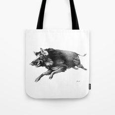 Running Boar Tote Bag