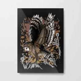 Barn Owl Stance Metal Print