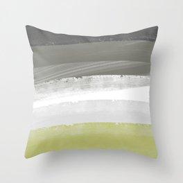sof wav gren Throw Pillow