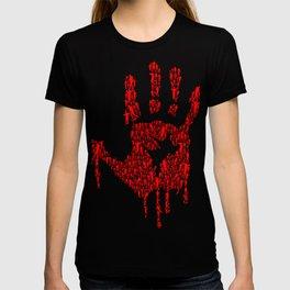 Undead Blood Hand Print Artwork T-shirt