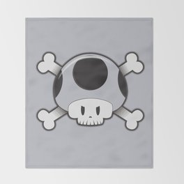 Toad Skull Throw Blanket