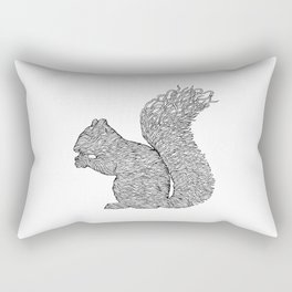 SQUIRREL LINES Rectangular Pillow
