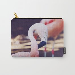 Folding Flamingo Carry-All Pouch