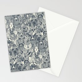 canadian animals indigo pearl Stationery Cards