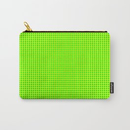 Lemon On Lime Grid Carry-All Pouch