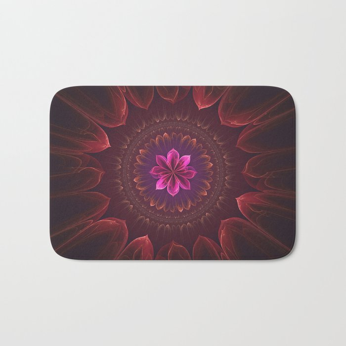 Blossom Within in Red Bath Mat