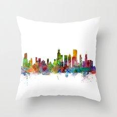 Chicago Illinois Skyline Throw Pillow