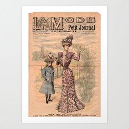 La Mode du Petit Journal July 15th 1900 Art Print