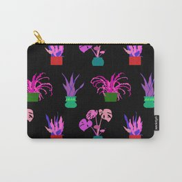 Simple Potted Plants in Black Carry-All Pouch