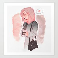 laia Art Prints featuring Coffee Luv by Laia™