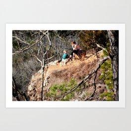 Climbing Up Sparrowhawk Mountain above the Illinois River, No. 8 of 8 Art Print