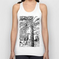 palm tree Tank Tops featuring Palm tree by ArteGo