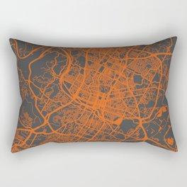 Austin map orange Rectangular Pillow