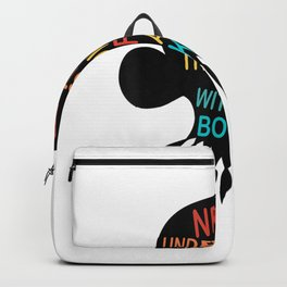 Never Underestimate The Power of A Girl With Book Ruth RBG Backpack