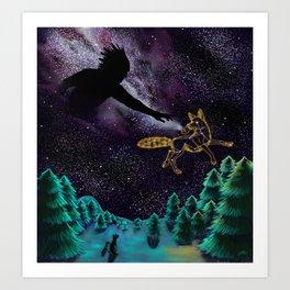 Black God and Coyote Art Print