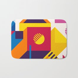 Abstract modern geometric background. Composition 19 Bath Mat