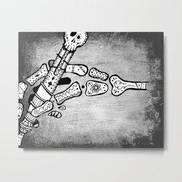 Skull #3 (Lost Pieces) Metal Print
