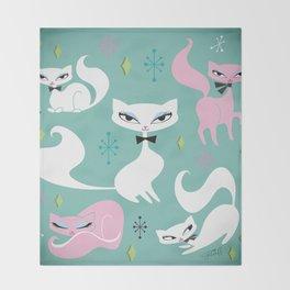 Swanky Kittens Throw Blanket