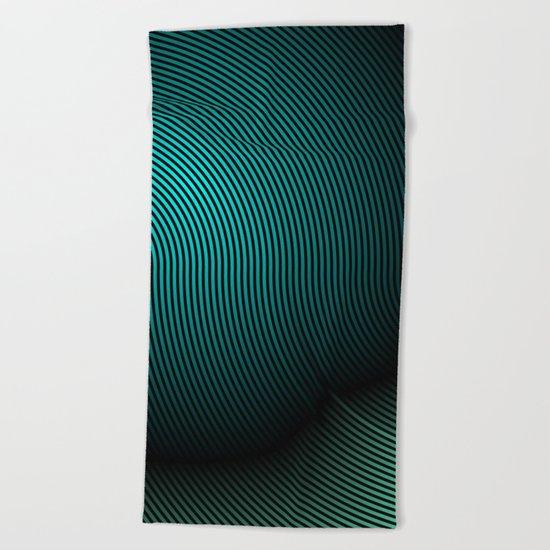 concentric 04 Beach Towel