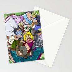 Crowd & Snake Stationery Cards