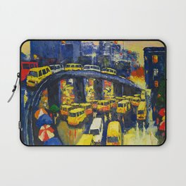 A Section Of The Busy Lagos Metropolis Laptop Sleeve