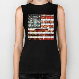 Retro Abstract American Flag Biker Tank