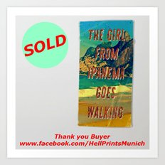 SOLD - Girl from Ipanema #2 – A Hell Songbook Edition Beach Towel / Beach Towel - Thank You Buyer Art Print