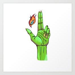 Eye Tribute - Green Art Print
