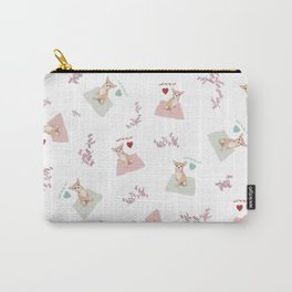 Small dog Big love, white Carry-All Pouch