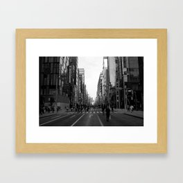 Ginza Street Tokyo Framed Art Print