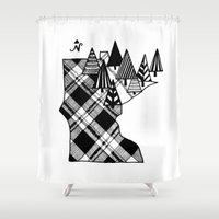 minnesota Shower Curtains featuring Minnesota Love by cmbringle