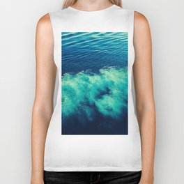abstract sea Biker Tank