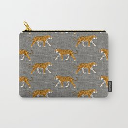 walking tigers - gray Carry-All Pouch
