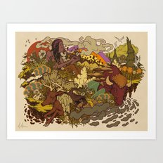 Smoke to ONEness Art Print