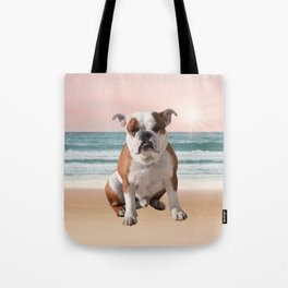Cute French Bulldog Beach Sun Water Tote Bag