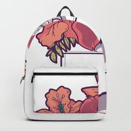 Dog with flowers in your pocket Backpack
