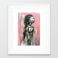 doll Framed Art Prints featuring doll by olya tra