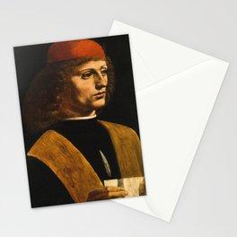Portrait by Leonardo Da Vinci Stationery Cards