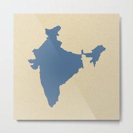 Kashmir Blue Spice Moods India Metal Print