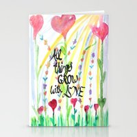 love quotes Stationery Cards featuring Love Quotes by Just Creative Julia