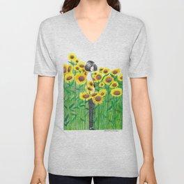Sunflower Girl Himawari Unisex V-Neck