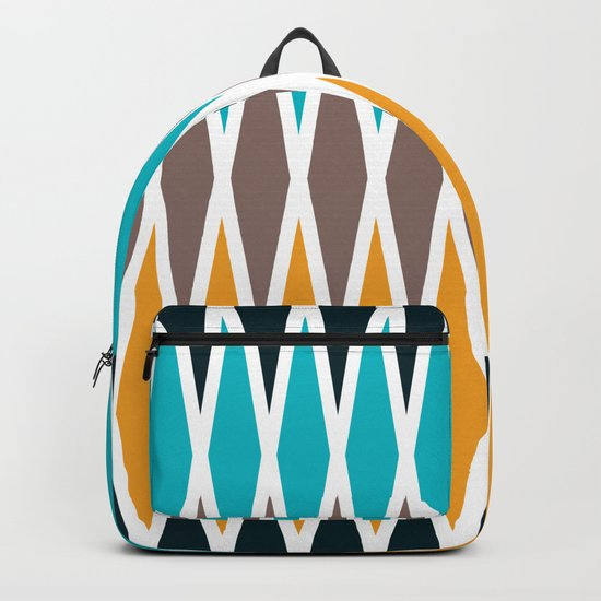 Seamless abstract rhombus geometrical print Backpack