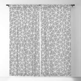Connectivity - White on Grey Blackout Curtain