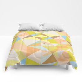 Pastel Earth Tone Triangle Pattern Comforters